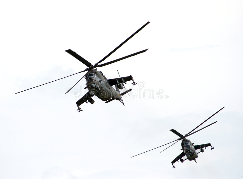 gunships royaltyfri fotografi