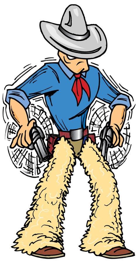 Gunslinger ilustração stock