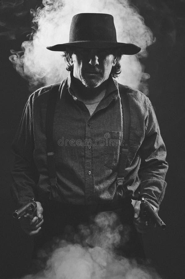 Gunslinger ocidental selvagem fotos de stock royalty free