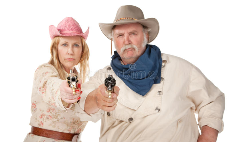 Gunslingers imagem de stock royalty free