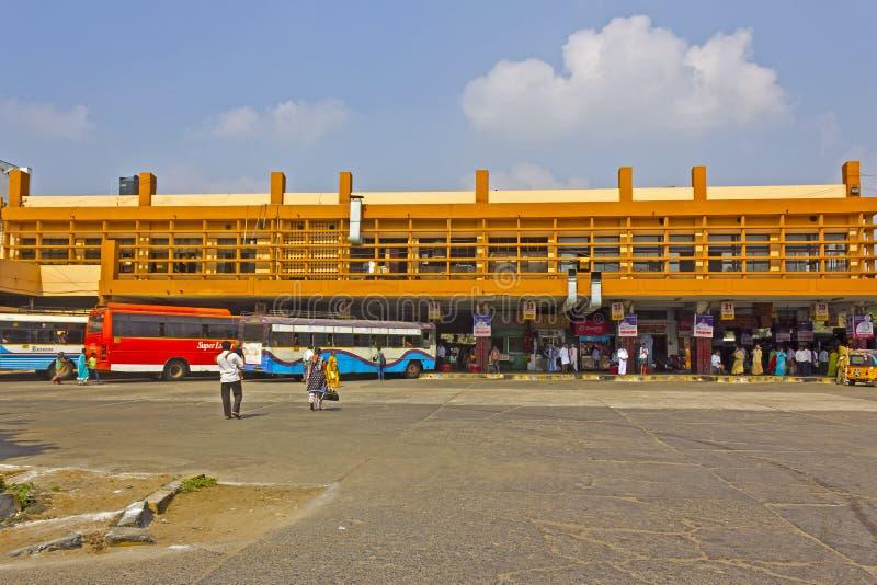 Guntur bus station. JANUARY 28, 2015, GUNTUR , ANDHRA PRADESH, INDIA - Bus station in Guntur, Andhra Pradesh royalty free stock photography