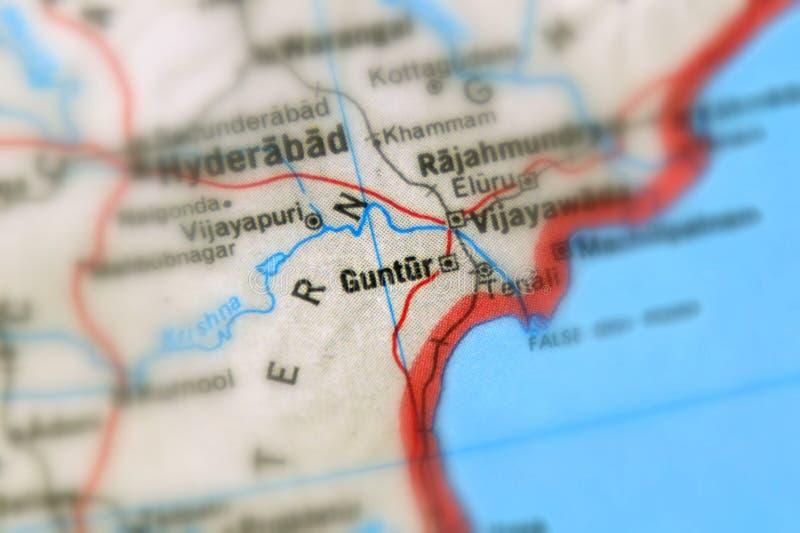 Guntur, uma cidade na ?ndia foto de stock