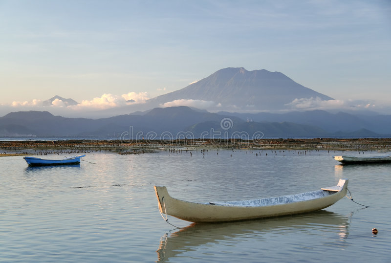 Gunung agung volcano bali indonesia landscape royalty free stock image