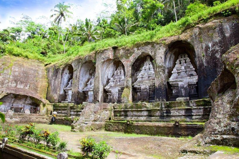 Gunung Kawi Tempel bei Bali, Indonesien lizenzfreie stockbilder
