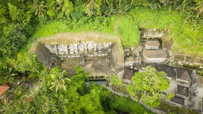 Gunung kawitempel i Bali royaltyfria foton