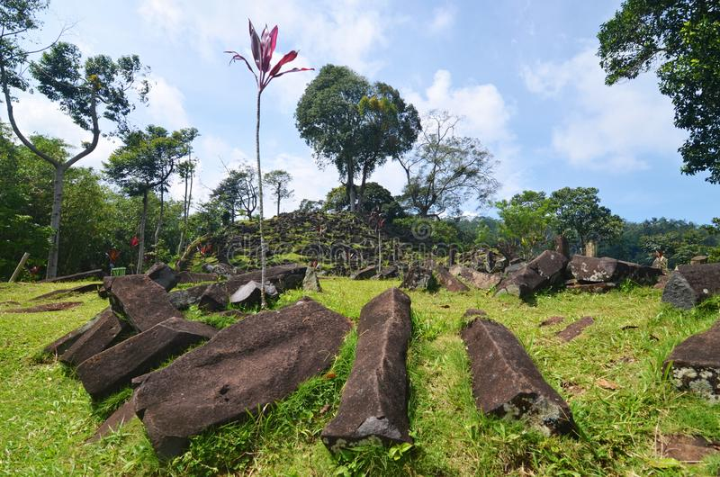 Gunung Padang Megalithic Site, West Java, Indonesia. Gunung Padang megalithic site in Cianjur, Indonesia royalty free stock photo