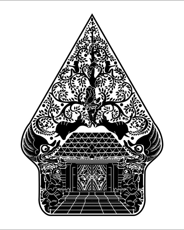 Gunungan Wayang Ilustration vektor vektor illustrationer