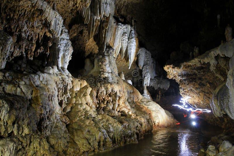 Gunungsewu Geopark Ornament. Yogyakarta, Indonesia, 18th September, 2014. The beauty of stalagmite ornament of Gilap Cave in Gunungsewu karst area which is stock photos