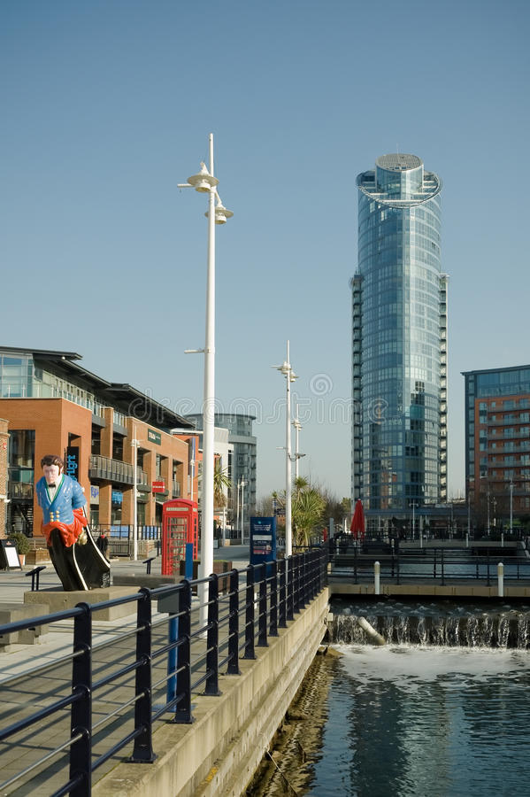 Download Gunwharf quays editorial stock photo. Image of united - 23245003