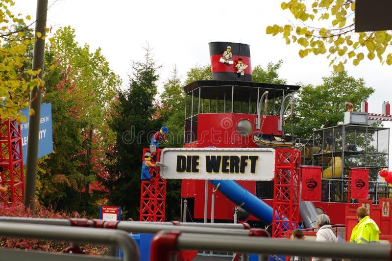 GUNZBGUNZBURG, ALEMANHA - EM OUTUBRO DE 2013: mini Europa dos tijolos de LEGO em outubro de 2013, Gunzburg, Alemanha, EuropeURG A imagens de stock royalty free