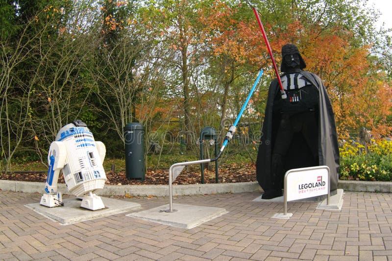 GUNZBURG, ALEMANIA - OCTUBRE DE 2013: Star Wars de ladrillos de LEGO en octubre de 2013, Gunzburg, Alemania Europa imágenes de archivo libres de regalías