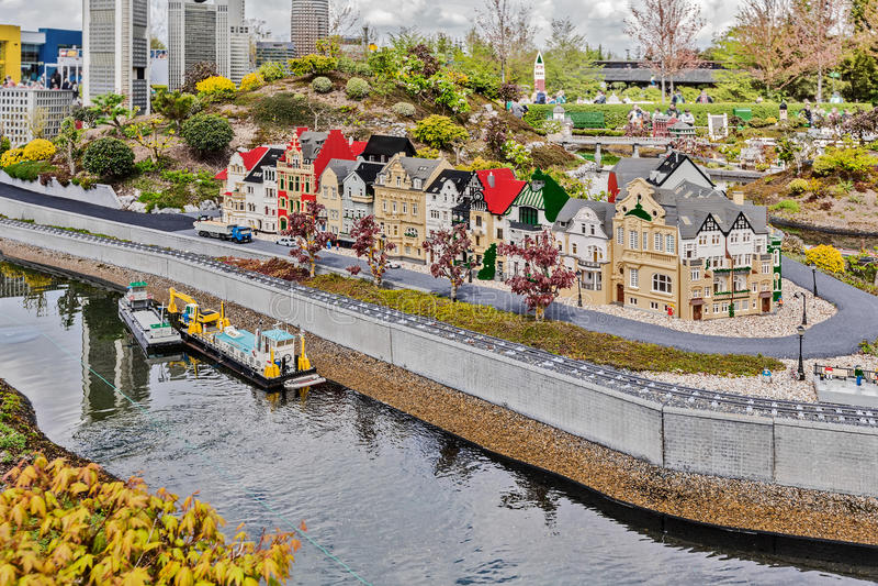 Gunzburg, DEUTSCHLAND - 26. März: Legoland - Mini-Europa von LEGO stockfotos