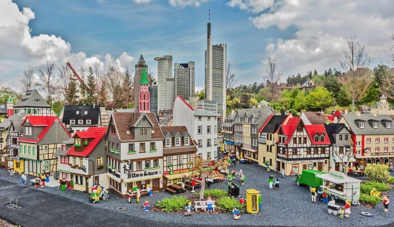Gunzburg, GERMANIA - 26 marzo: Legoland - mini Europa da LEGO fotografie stock libere da diritti