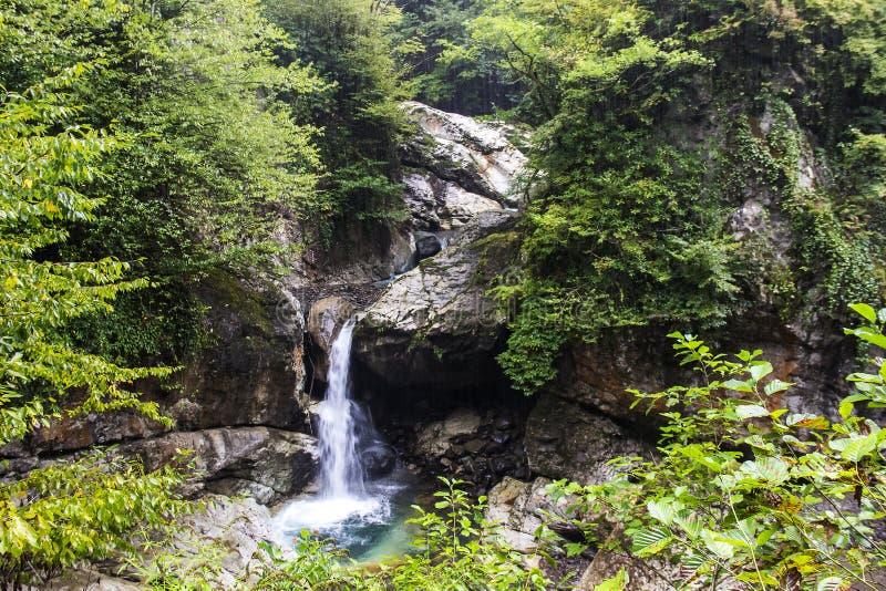 Gupsky瀑布 免版税库存照片