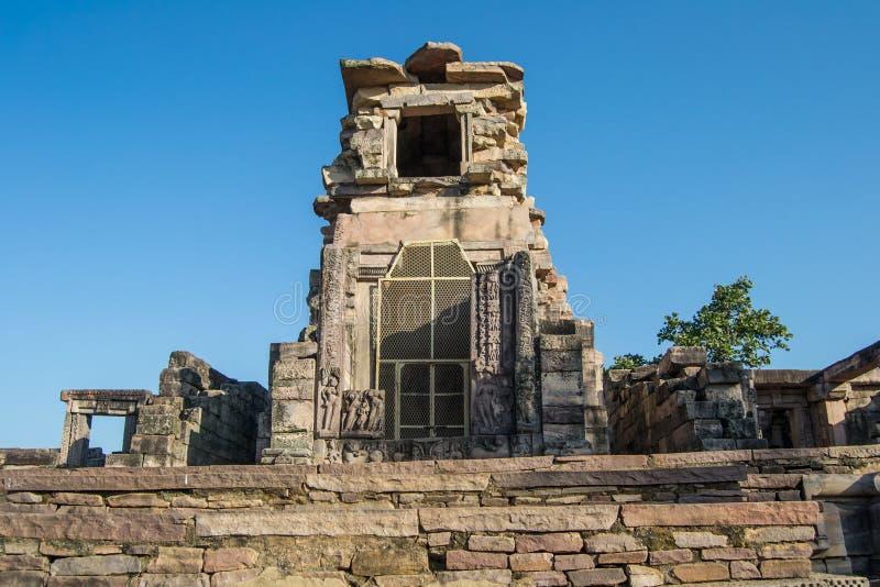 Gupta Era High Stone Temple in Sanchi Complex stock photos