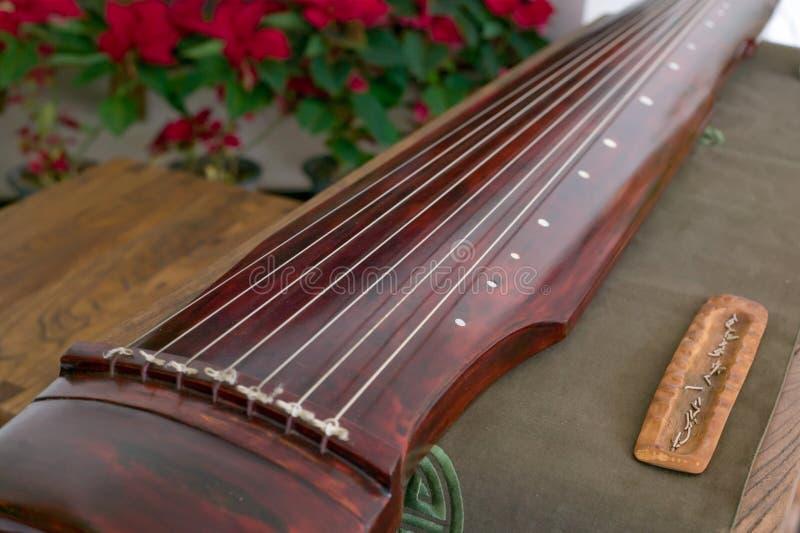 Guqin, un instrument plumé sept-ficelé dans certains photo libre de droits