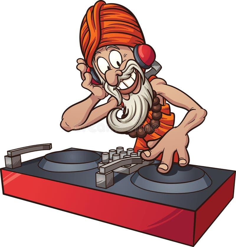 Gurú de DJ ilustración del vector