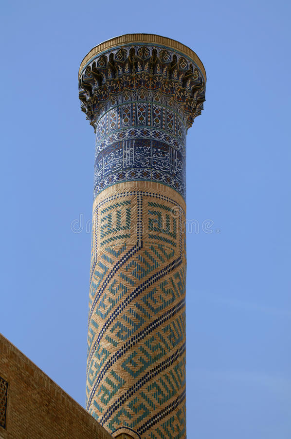 Gur e贵族陵墓,撒马而罕尖塔  库存照片
