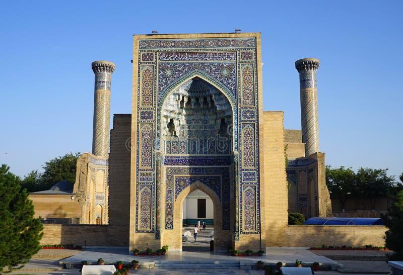 Gur-e-Amir, mausolée d'Amir Timur, Samarkand, l'Ouzbékistan images libres de droits