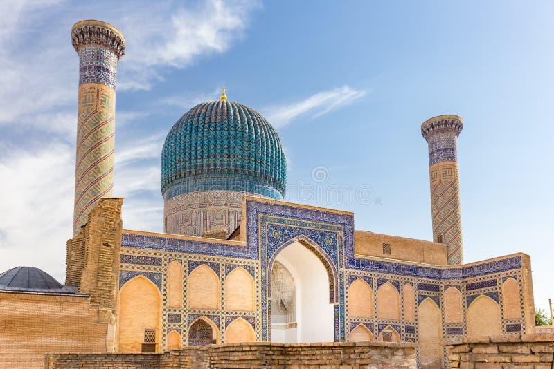 Gur-E Amir Mausoleum, a Samarcanda, l'Uzbekistan fotografia stock libera da diritti