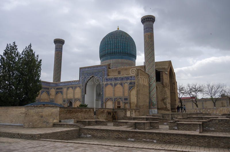 Gur Emir-Mausoleum des asiatischen Eroberers Tamerlane (auch bekannt stockfotos