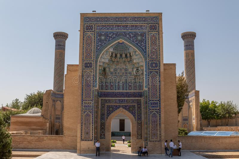 The Gur-Emir Mausoleum in Samarkand royalty free stock images