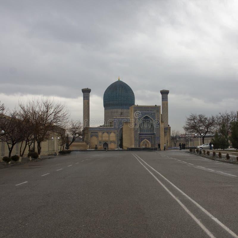 Gur-Emir mausoleum of Tamerlane (also known as Timur) in Samarka royalty free stock image