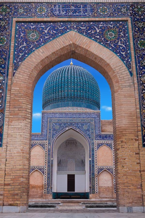 The mausoleum of the Asian conqueror Tamerlane in Samarkand, Uzbekistan royalty free stock photo