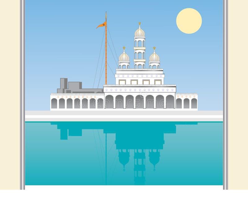 Gurdwara brama ilustracji