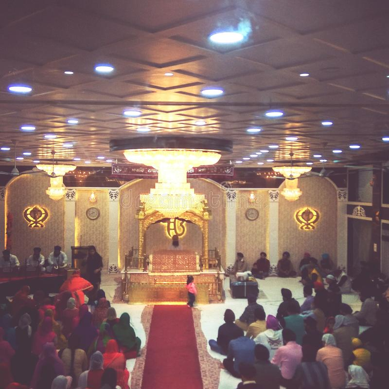 Gurdwara ljus royaltyfri bild