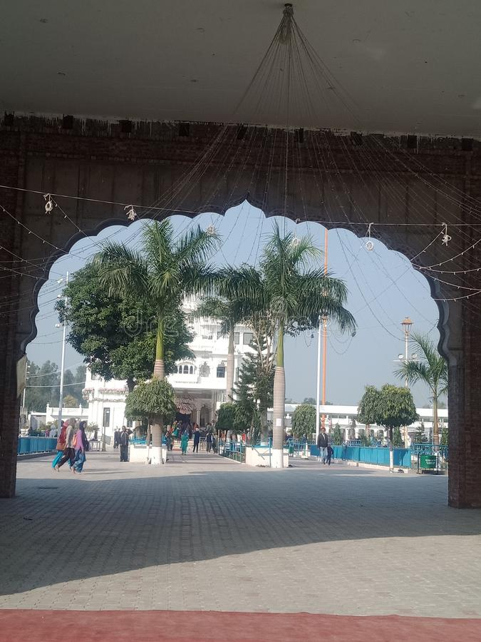 Gurdwara sahib shri ber sahib zdjęcie stock