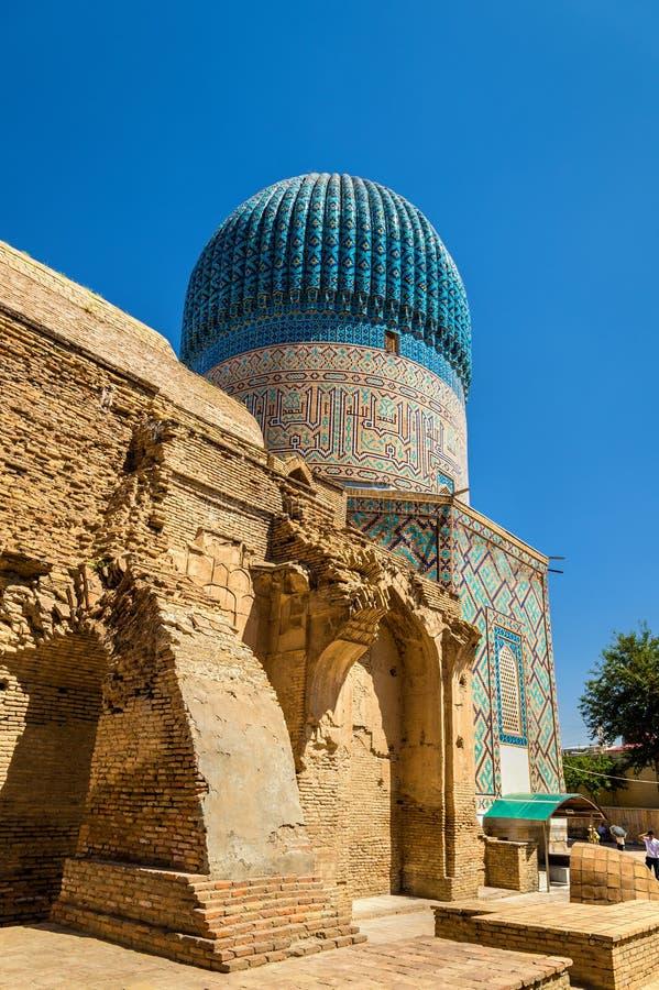 Guri Amir-Mausoleum des asiatischen Eroberers Tamerlane in Samarkand, Usbekistan lizenzfreie stockfotos