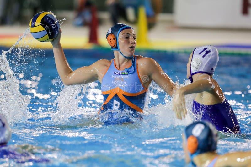 Waterpolo EuroLeague Women Championship Kinef Surgutneftegas Kirishi vs Dunaujvaros stock photos