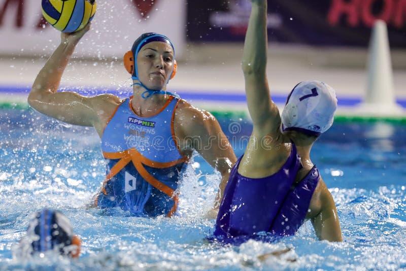 Waterpolo EuroLeague Women Championship Kinef Surgutneftegas Kirishi vs Dunaujvaros stock photo