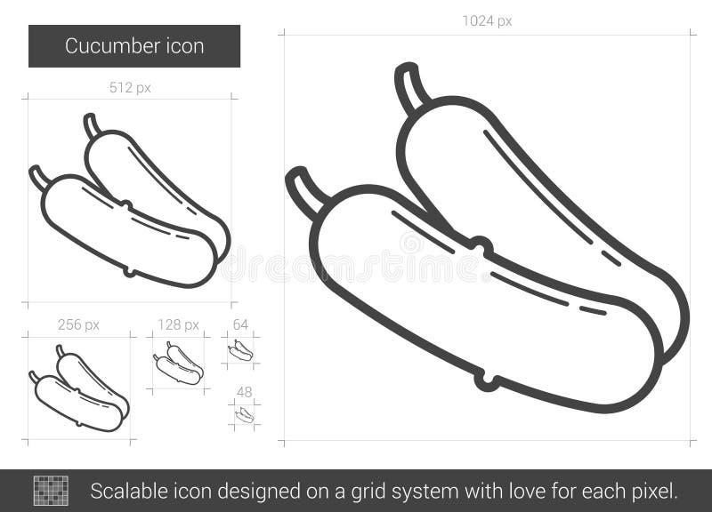 Gurkalinje symbol vektor illustrationer