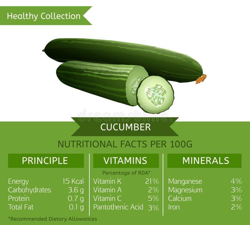 Gurken-Ernährungstatsachen stock abbildung