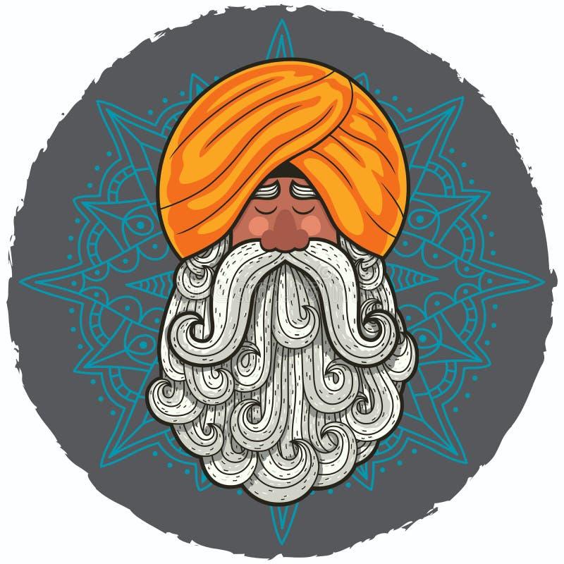 guru royaltyfri illustrationer