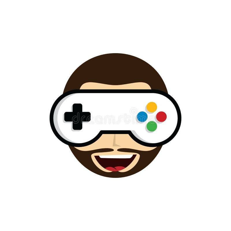 Guru del gioco - gamer matrice - logo di tema del video gioco - logotype royalty illustrazione gratis
