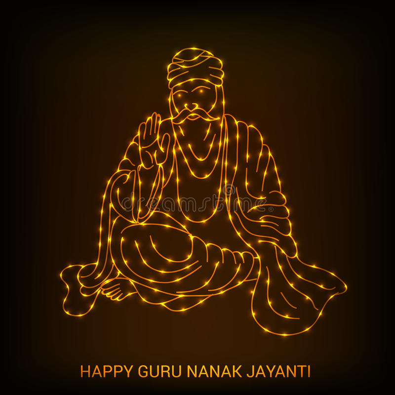 Guru Nanak Jayanti royaltyfri illustrationer