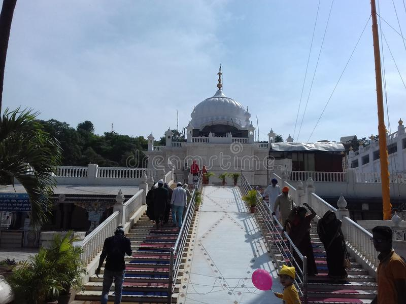 Guru Nanak Jhira Sahib, Bidar, Karnataka imágenes de archivo libres de regalías