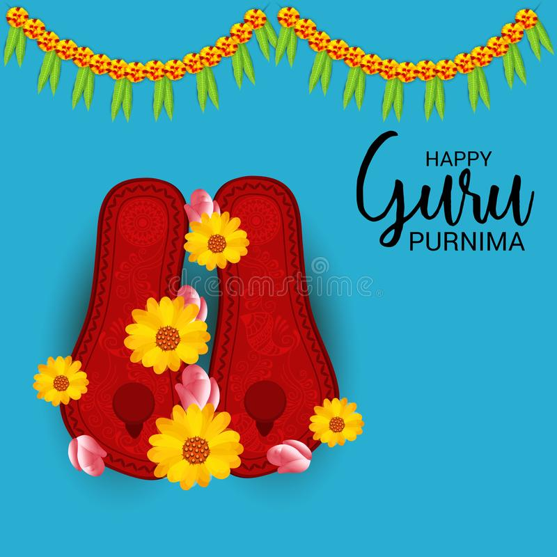 Guru Purnima vektor illustrationer