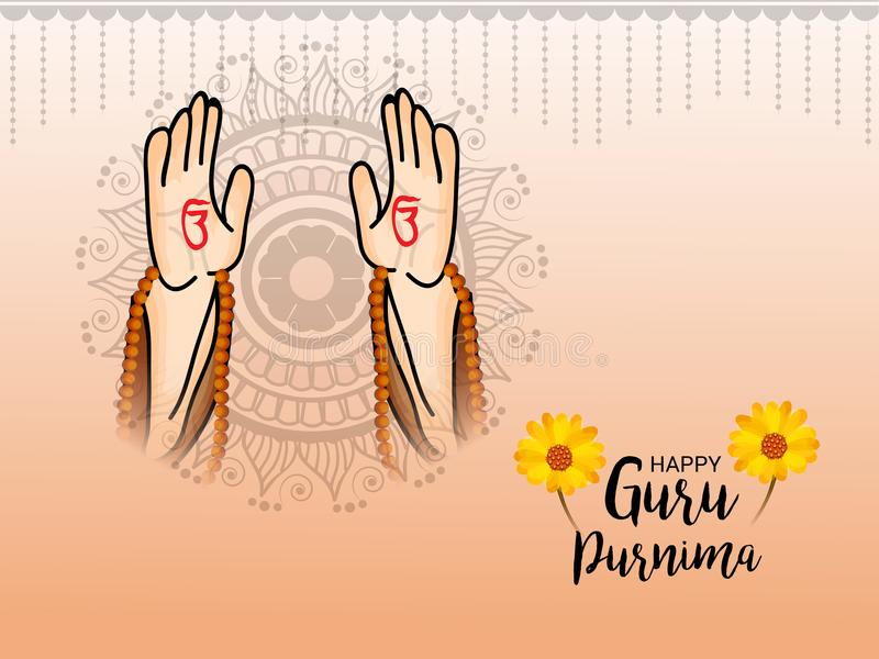 Guru Purnima stock illustrationer
