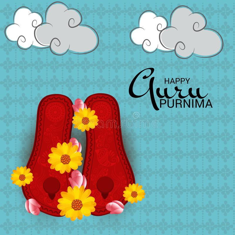 Guru Purnima royaltyfri illustrationer