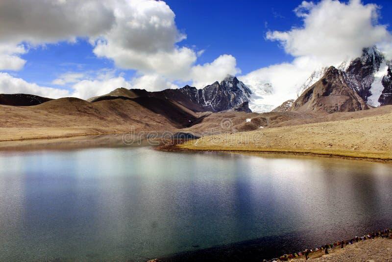 Gurudongmar jezioro, Północny Sikkim, India obrazy royalty free