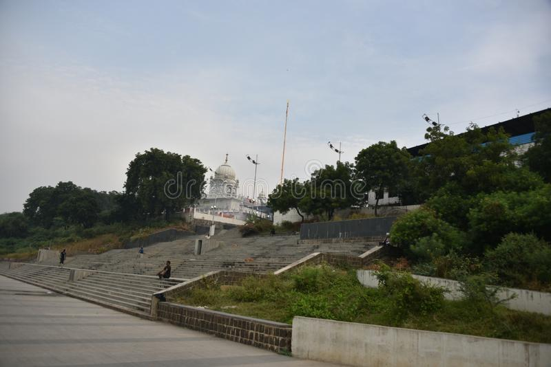 Gurudwara Banda Ghat sahib, Nanded, maharashtra, India obraz royalty free