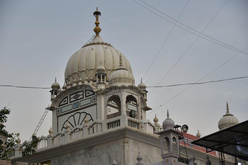 Gurudwara Banda Ghat Sahib, Nanded, Maharashtra, Indien royaltyfri bild