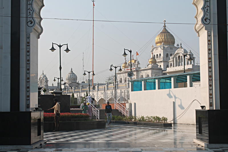Gurudwara Bangla Sahib New Delhi royalty-vrije stock fotografie