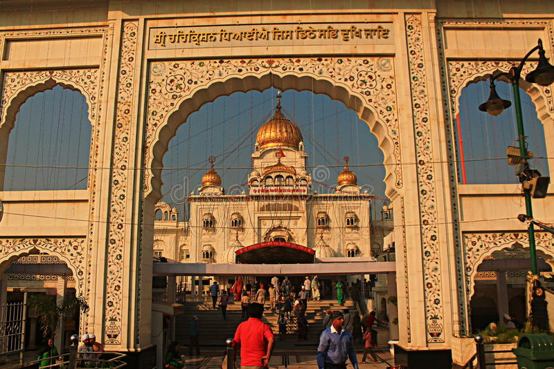 Gurudwara Bangla Sahib New Delhi royalty-vrije stock afbeeldingen