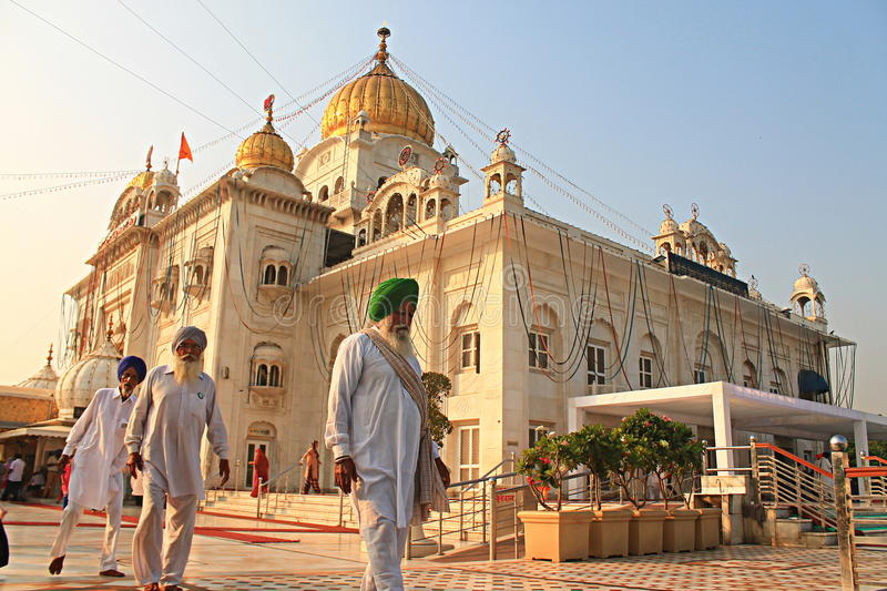 Gurudwara Bangla Sahib New Delhi royalty-vrije stock foto