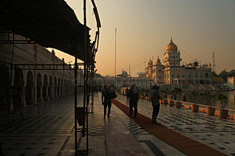 Gurudwara Bangla Sahib New Delhi stock afbeelding